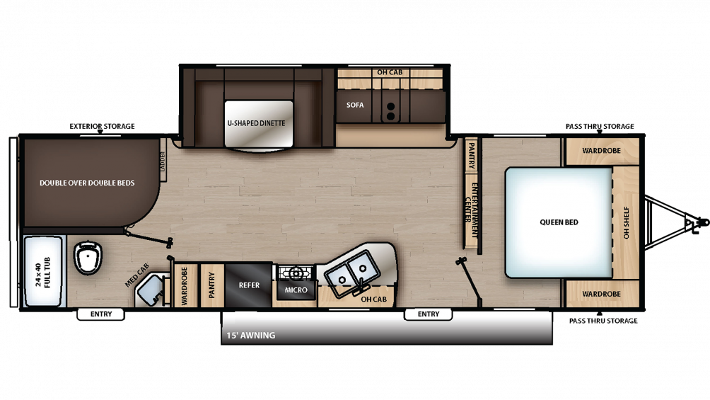 2020 Catalina SBX 281DDS Floor Plan Img
