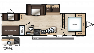 2020 Catalina SBX 291BHS Floor Plan Img