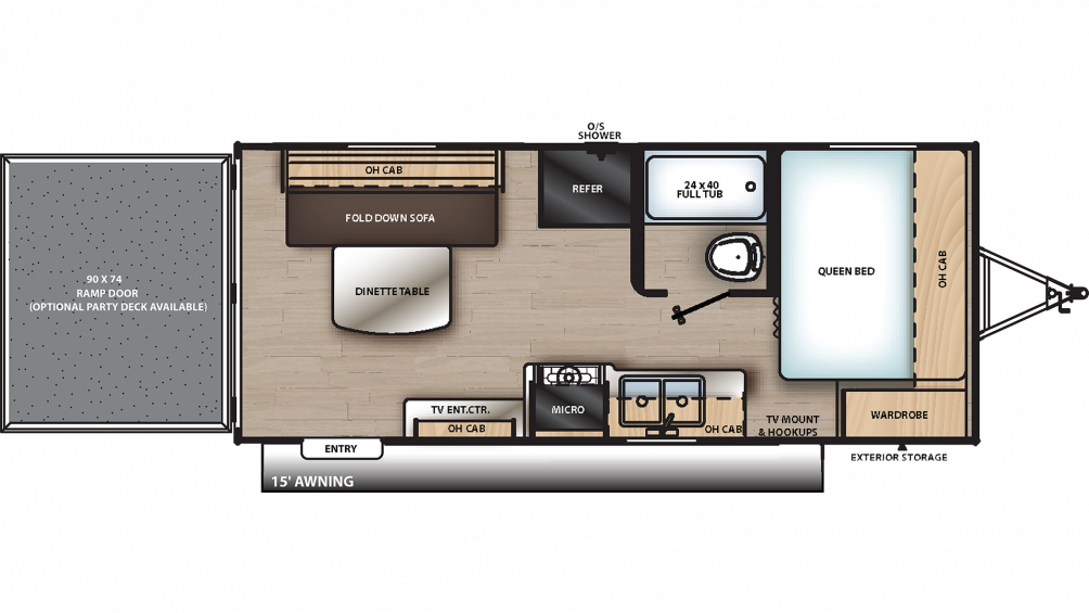 2020 Catalina Trail Blazer 19TH Floor Plan Img