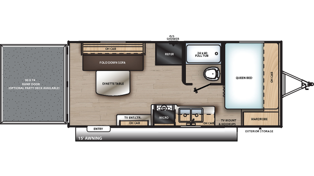 2020 Catalina Trail Blazer 19TH Floor Plan