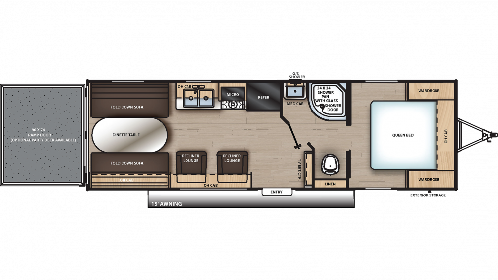 2020 Catalina Trail Blazer 26TH Floor Plan Img
