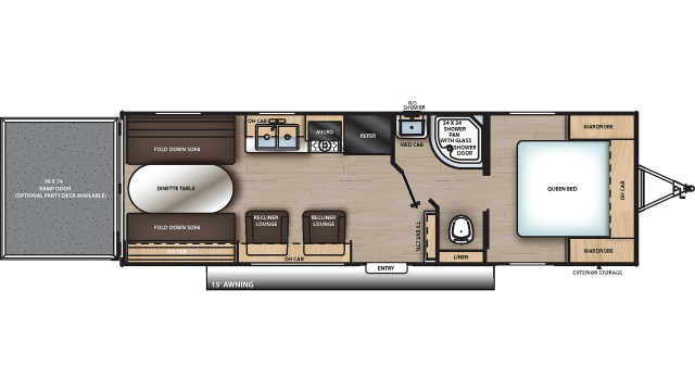 2020 Catalina Trail Blazer 26TH Floor Plan