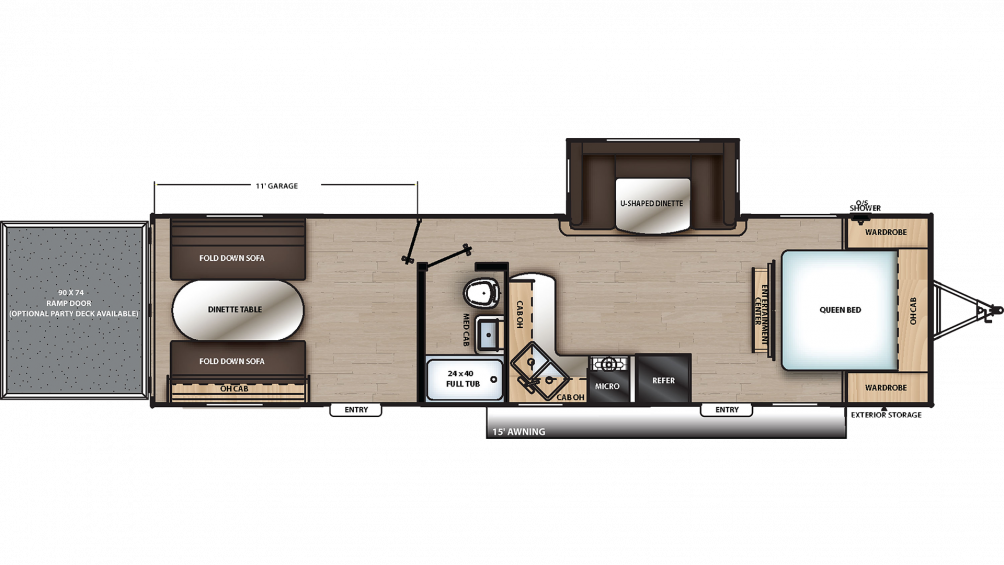 2020 Catalina Trail Blazer 29THS Floor Plan Img