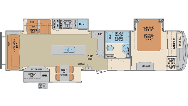 2020 Columbus 366RL Floor Plan