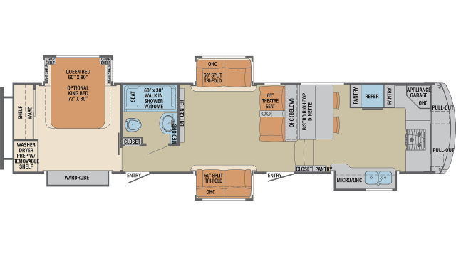 2020 Columbus 386FK Floor Plan