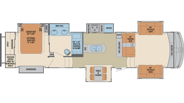 2020 Columbus Compass Series 389FLC Floor Plan