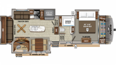 2020 Eagle 317RLOK Floor Plan Img