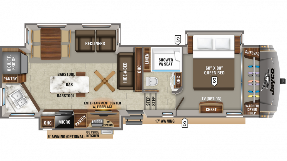 2020 Eagle 319MLOK Floor Plan Img