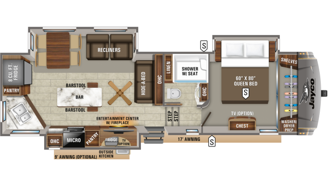 2020 Eagle 319MLOK Floor Plan
