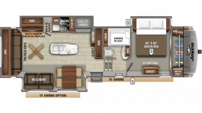 2020 Eagle 321RSTS Floor Plan Img