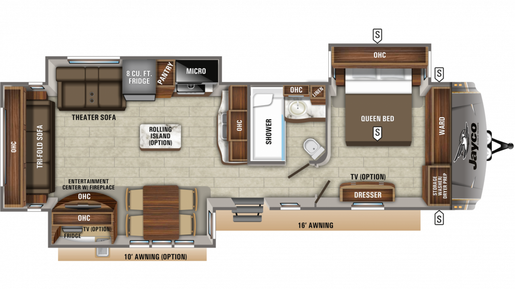 2020 Eagle 322RLOK Floor Plan Img