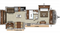 2020 Eagle 322RLOK Floor Plan