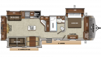 2020 Eagle 338RETS Floor Plan