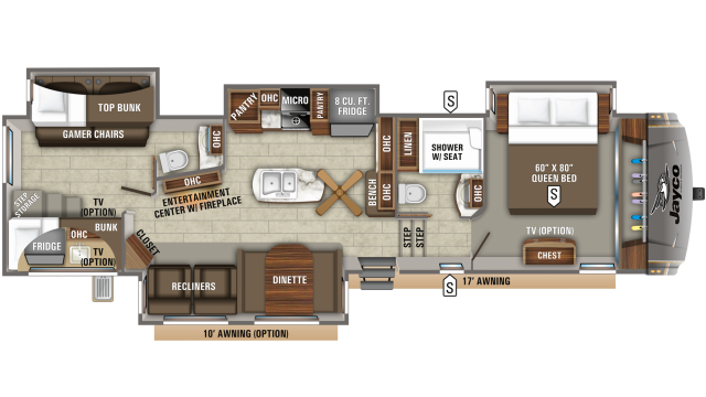 2020 Eagle 347BHOK Floor Plan
