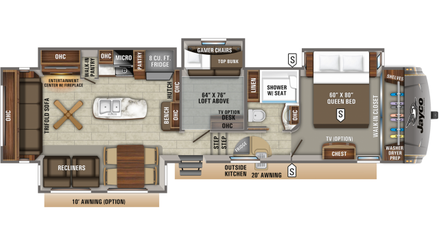 2020 Eagle 355MBQS Floor Plan