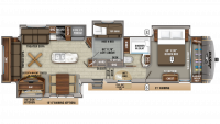 2020 Eagle 357MDOK Floor Plan