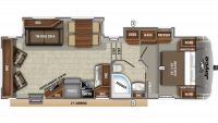 2020 Eagle HT 26.5RLDS Floor Plan