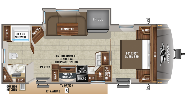 2020 Eagle HT 262RBOK Floor Plan