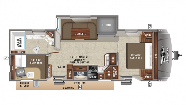 2020 Eagle HT 264BHOK Floor Plan