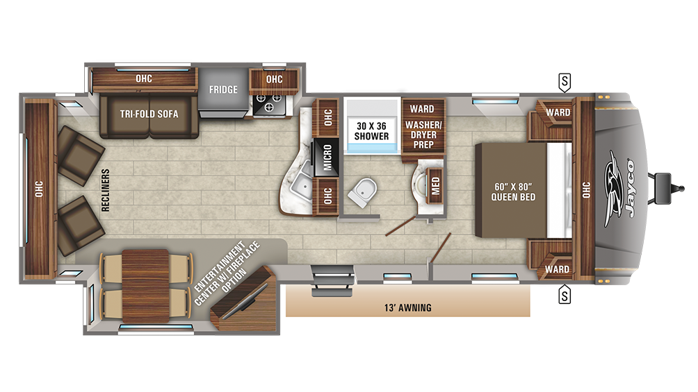 2020 Eagle HT 270RLDS Floor Plan Img
