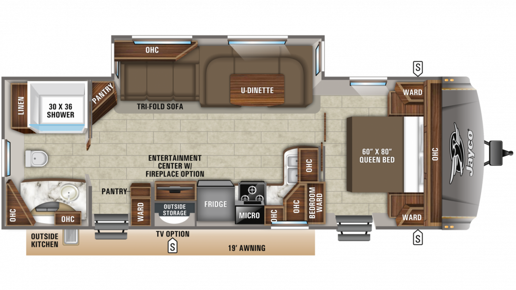 2020 Eagle HT 272RBOK Floor Plan Img