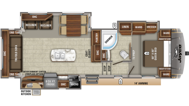 2020 Eagle HT 28.5RSTS Floor Plan