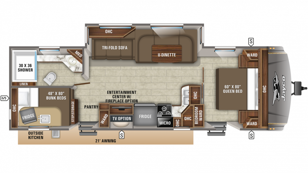 2020 Eagle HT 284BHOK Floor Plan Img