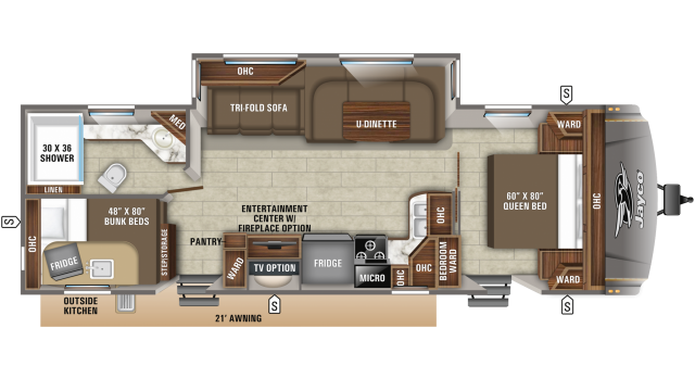 2020 Eagle HT 284BHOK Floor Plan