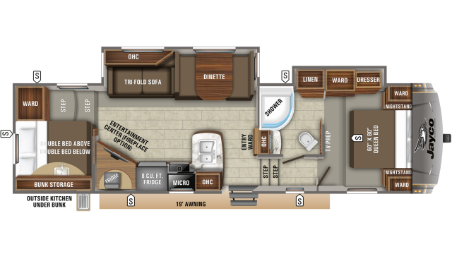 2020 Eagle HT 29.5BHDS Floor Plan