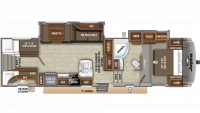 2020 Eagle HT 29.5BHOK Floor Plan