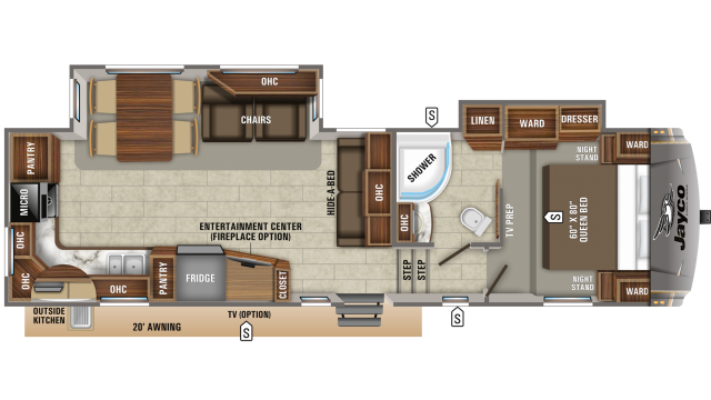 2020 Eagle HT 30.5MLOK Floor Plan