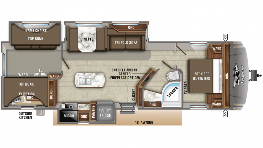 2020 Eagle HT 324BHTS Floor Plan Img