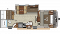 2020 Eagle HTX 26BHX Floor Plan