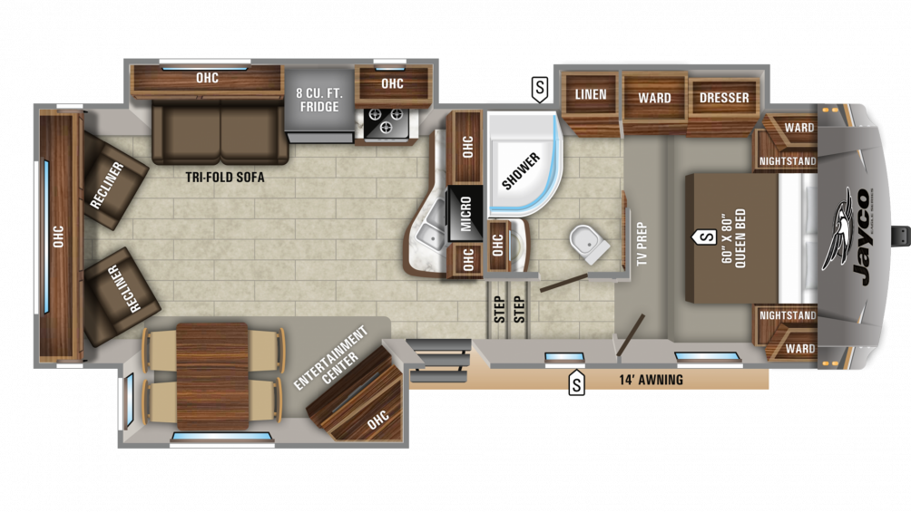 2020 Eagle HTX 27SGX Floor Plan Img