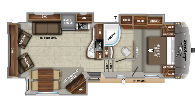 2020 Eagle HTX 27SGX Floor Plan