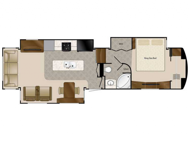 2020 Elite Suites 38RSSB3 Floor Plan