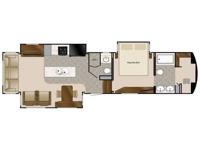 2020 Elite Suites 39DBRS3 Floor Plan