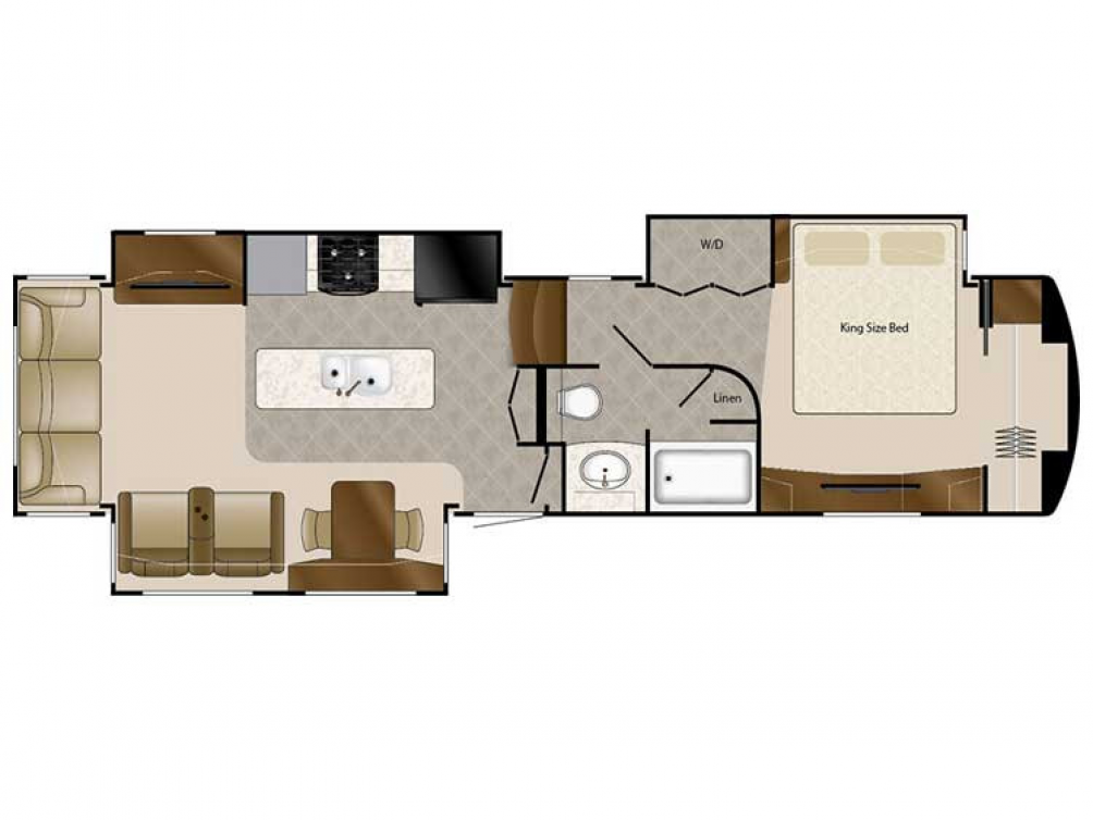 2020 Elite Suites 39RESB3 Floor Plan Img