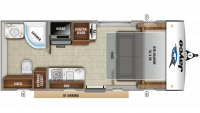 2020 Hummingbird 16MRB Floor Plan