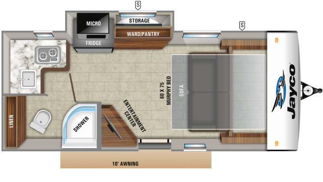 2020 Hummingbird 17MBS Floor Plan