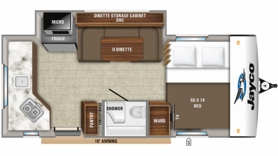 2020 Hummingbird 17RK Floor Plan Img
