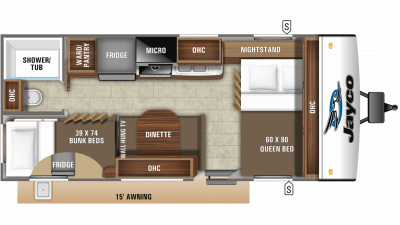 2020 Jay Feather 20BH Floor Plan Img
