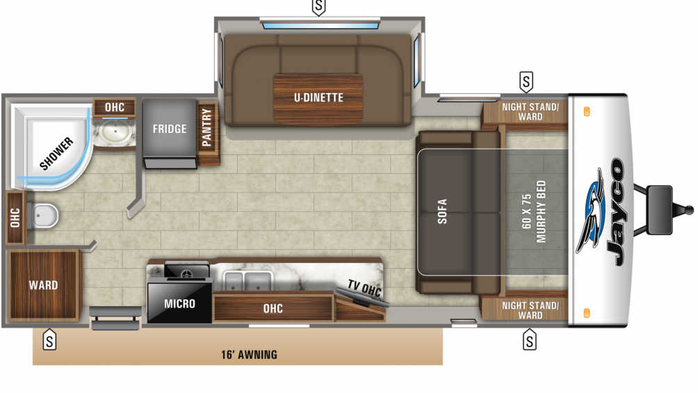 2020 Jay Feather 23RBM Floor Plan Img