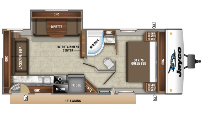 2020 Jay Feather 24RL Floor Plan