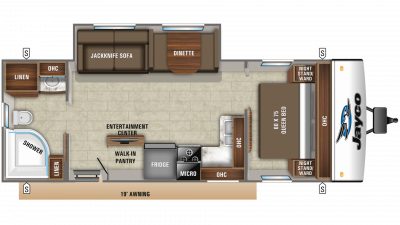 2020 Jay Feather 25RB Floor Plan Img