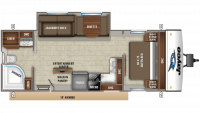2020 Jay Feather 25RB Floor Plan