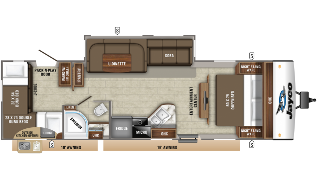 2020 Jay Feather 29QB Floor Plan