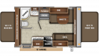 2020 Jay Feather X17Z Floor Plan
