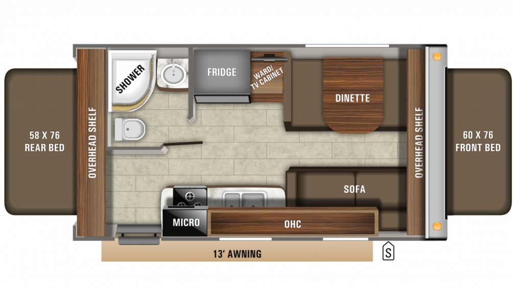 2020 Jay Feather X19H Floor Plan Img