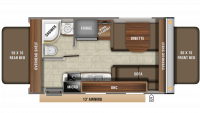 2020 Jay Feather X19H Floor Plan